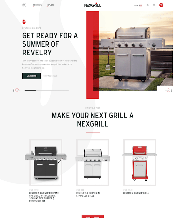 Nexgrill website project